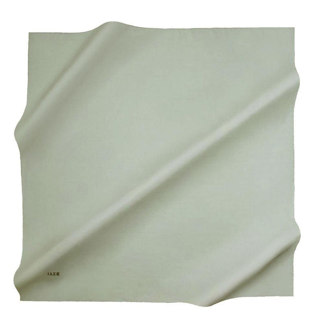 Aker scarf Mint Green Aker Silk Cotton Square Solid Scarf #7071-472