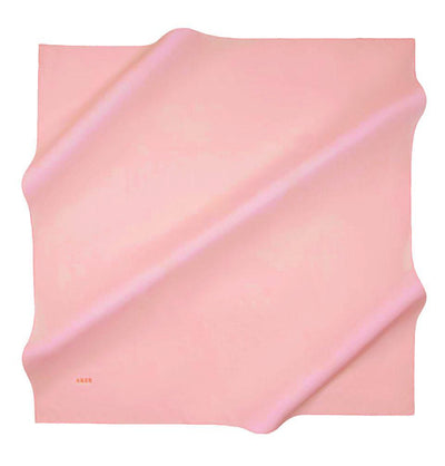 Aker scarf Pink Aker Silk Cotton Square Solid Scarf #7071-497
