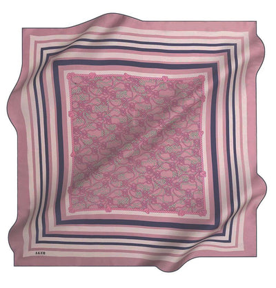 Aker Silk Cotton Patterned Square Scarf #7807-423