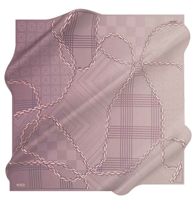 Aker scarf Purple/Pink Aker Silk Cotton Patterned Square Scarf #8117-491