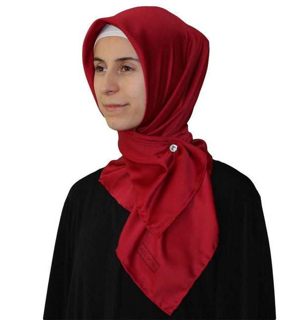 Aker scarf Red / 90 x 90 cm Aker Satin Square Hijab Scarf 4072 Red