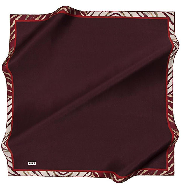 Aker scarf Red Aker Turkish Silk Hijab Fall 2017 #7117-341