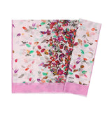 Aker Shawl 75 x 200cm / Pink Aker Silk Cotton Patterned Shawl #7312-491