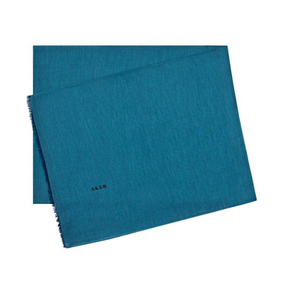 Aker Shawl 75 x 200cm / Teal Aker Solid Silk Cotton Thin Summer Hijab Shawl Fringed # 7070-422
