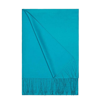 Aker Shawl Aker Double-Sided Silk Hijab Shawl #053 - Turquoise