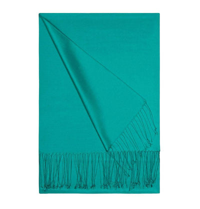 Aker Double-Sided Silk Hijab Shawl #056 - Sea Green