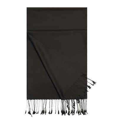 Aker Double-Sided Silk Hijab Shawl #311 - Black
