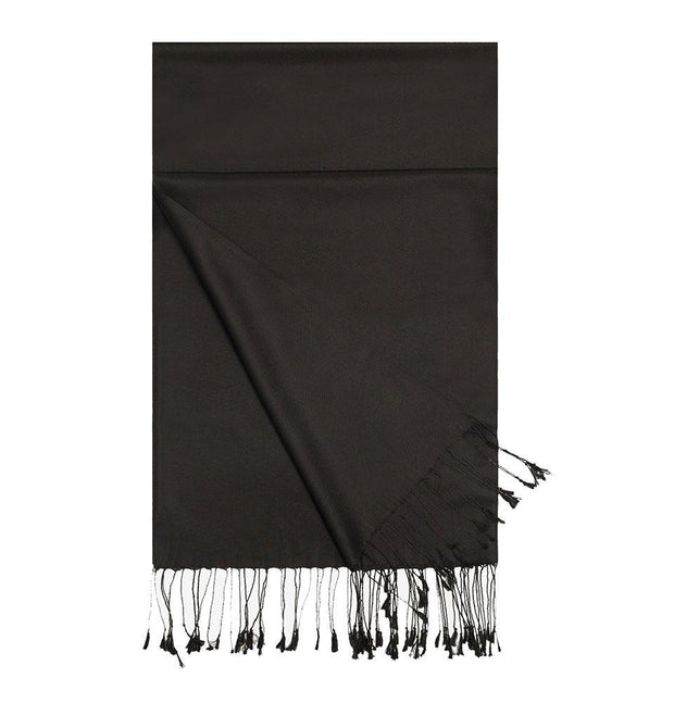 Aker Shawl Aker Double-Sided Silk Hijab Shawl #311 - Black