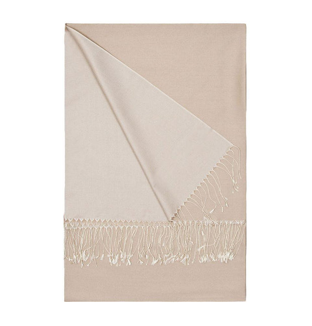 Aker Shawl Aker Double-Sided Silk Hijab Shawl #330 - Beige