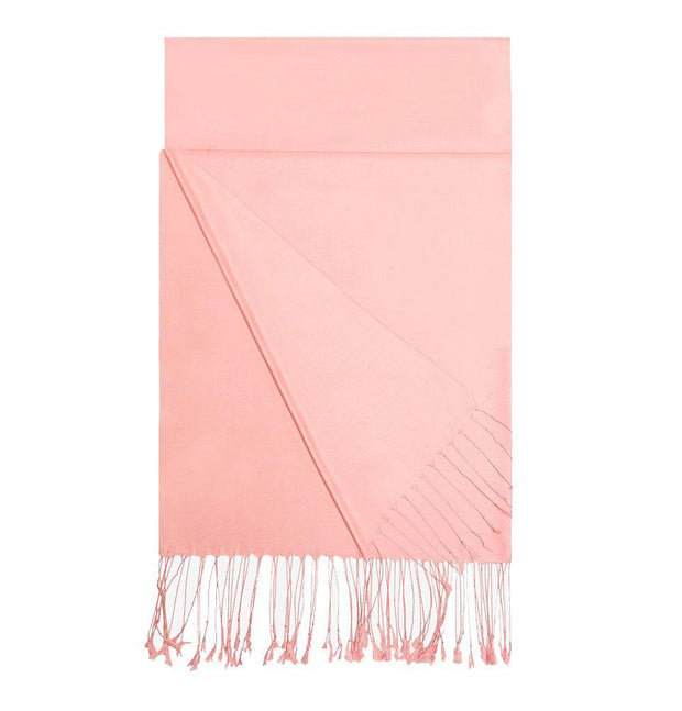 Aker Double-Sided Silk Hijab Shawl #388 - Pink
