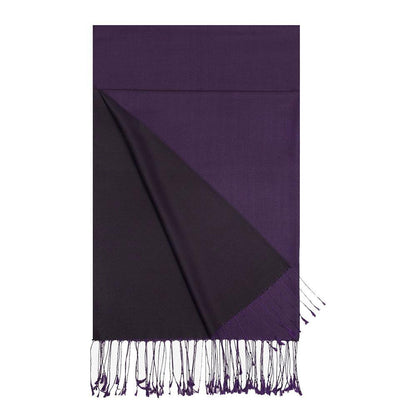 Aker Shawl Aker Double-Sided Silk Hijab Shawl #389 - Purple