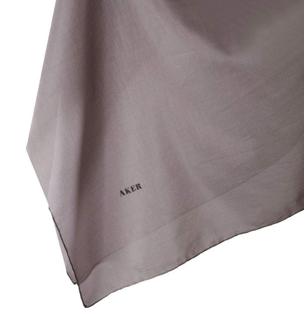 Aker Shawl Pale Lilac Aker Solid Silk Cotton Thin Summer Hijab Shawl Fringed #7070-471