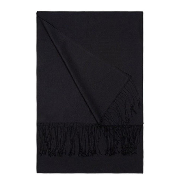 Aker Shawl Black Aker Double-Sided Silk Hijab Shawl #311 Black