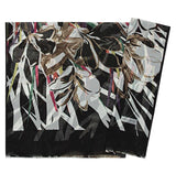 Aker Shawl Black / White / 70 x 180cm Aker 'Angel' Chiffon Hijab Shawl #7219-911