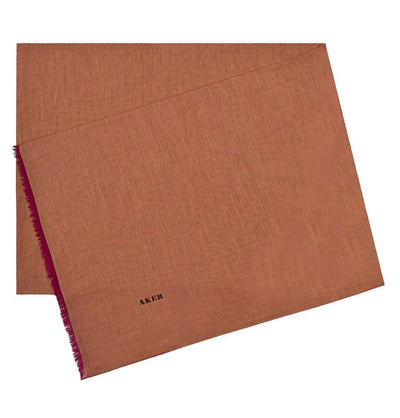 Aker Shawl Burnt Orange Aker Silk Cotton Thin Summer Hijab Shawl #7070-431