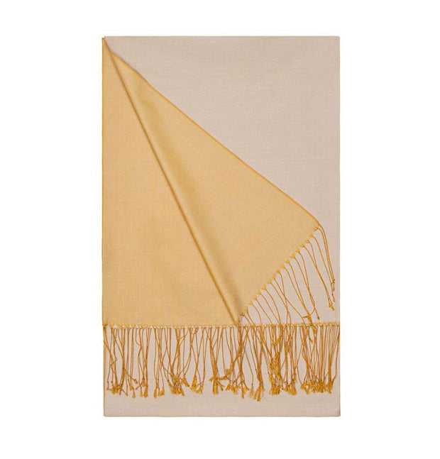 Aker Shawl Golden Yellow Aker Double-Sided Silk Hijab Shawl #369 - Golden Yellow