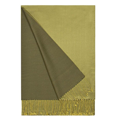 Aker Shawl Green Aker Double-Sided Silk Hijab Shawl #057 Olive Green