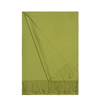 Aker Shawl Light Green Aker Double-Sided Silk Hijab Shawl #054 - Light Green