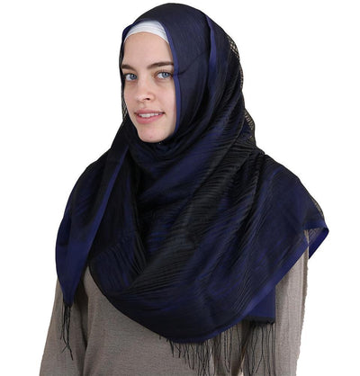 Aker Shawl Navy Blue Aker Torba Hijab Wrap Shawl Navy Blue 921