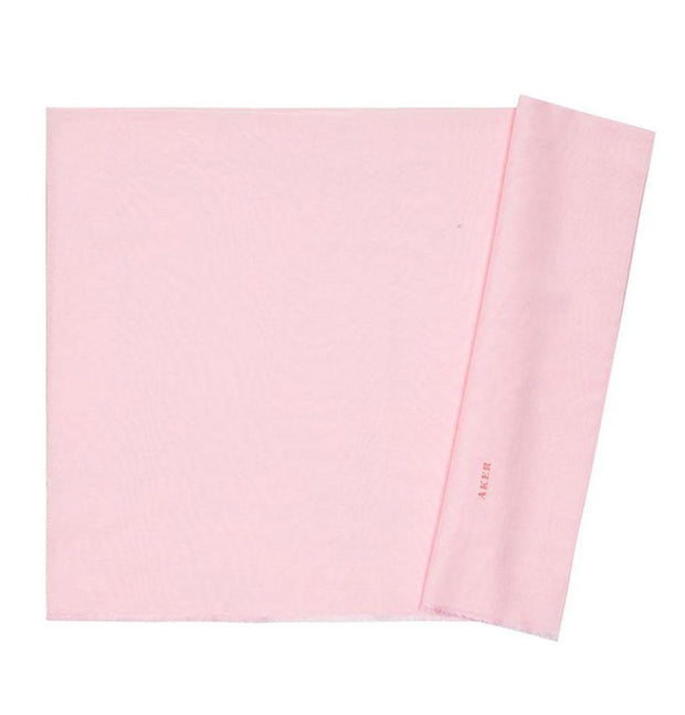 Aker Shawl Pink Aker Solid Silk Cotton Thin Summer Hijab Shawl Fringed #7070-497
