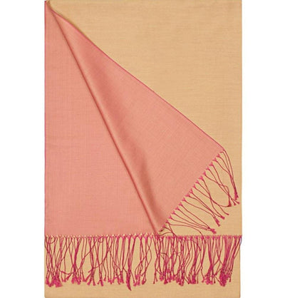 Aker Shawl Pink / Orange Aker Double-Sided Silk Hijab Shawl #062 - Pink/Orange