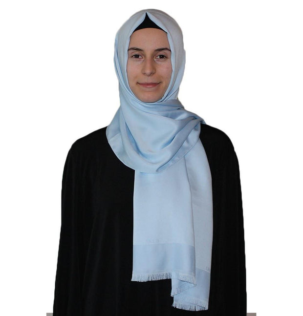 Aker Shawl Powder Blue / 70 x 180cm Aker Solid Shawl 1002SLK-923 Baby Blue