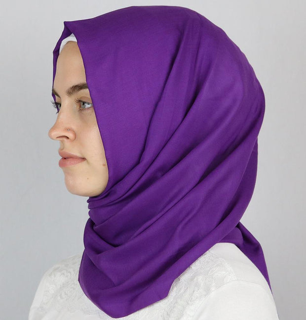 Aker Shawl Purple Aker Ince Hijab Shawl #390 Purple