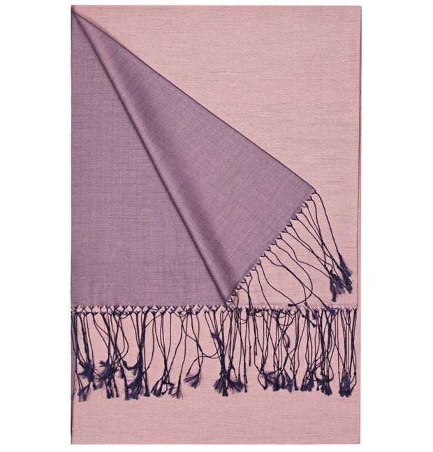 Aker Double-Sided Silk Hijab Shawl #328 Pink / Purple