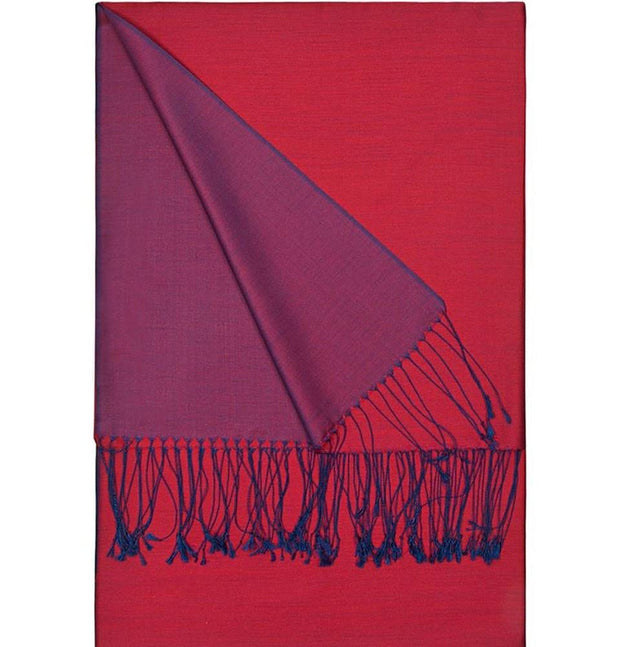 Aker Shawl Purple / Red Aker Spring Summer 2015 Double-Sided Silk Shawl #345