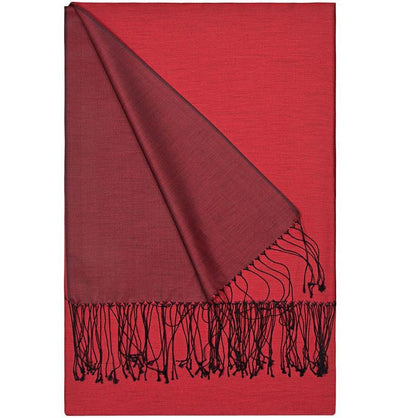 Aker Shawl Red Aker Double-Sided Silk Hijab Shawl #341 - Red