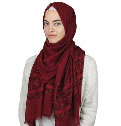 Aker Shawl Red Aker Shimmer Chiffon Hijab Shawl Red