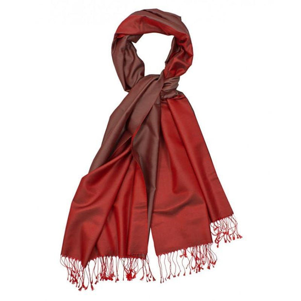 Aker Shawl Red / Burgundy Aker Spring Summer 2014 Double-Sided Silk Shawl - Red / Burgundy