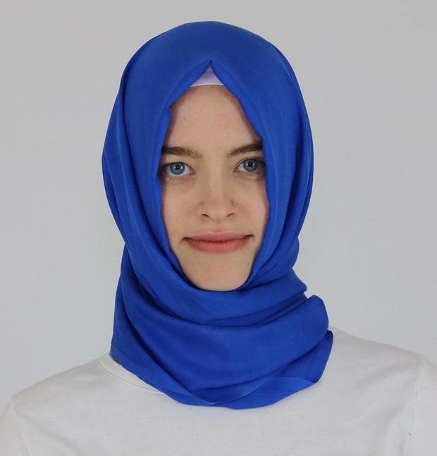 Aker Shawl Royal Blue Aker Ince Hijab Shawl #322 Royal Blue