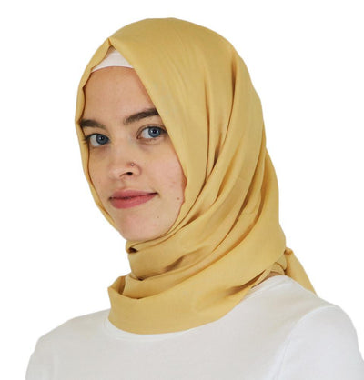 Aker Shawl Yellow Aker Ince Hijab Shawl #361 Yellow