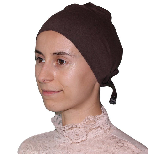 Aker Underscarf Brown Aker Plain Hijab Bonnet Underscarf - Dark Brown