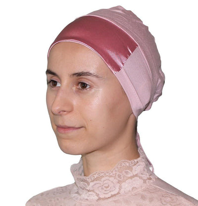 Aker Underscarf Light Pink Aker Satin Bonnet Underscarf - Light Pink