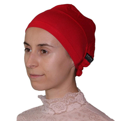 Aker Underscarf Red Aker Plain Hijab Bonnet Underscarf - Red