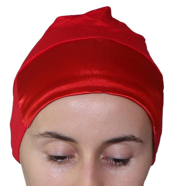 Aker Underscarf Red Aker Satin Bonnet Underscarf - Red