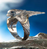 Ani Yuzuk ring Men's Sterling Silver Licensed Ertugrul Hawk Ring