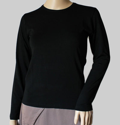 Arancia Body Arancia Modest Plain Jersey Undershirt  - Black
