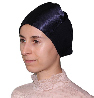 Armine Satin Hijab Bonnet Underscarf - Midnight Blue