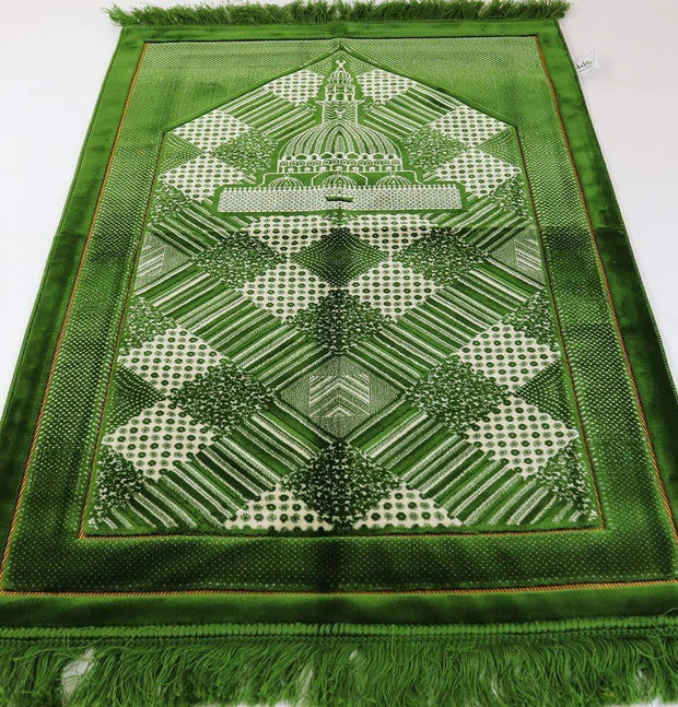 Lux Plush Regal Prayer Rug Green