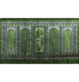 Aydin Prayer Rug Green Wide 5 Person Masjid Prayer Rug Dark Green