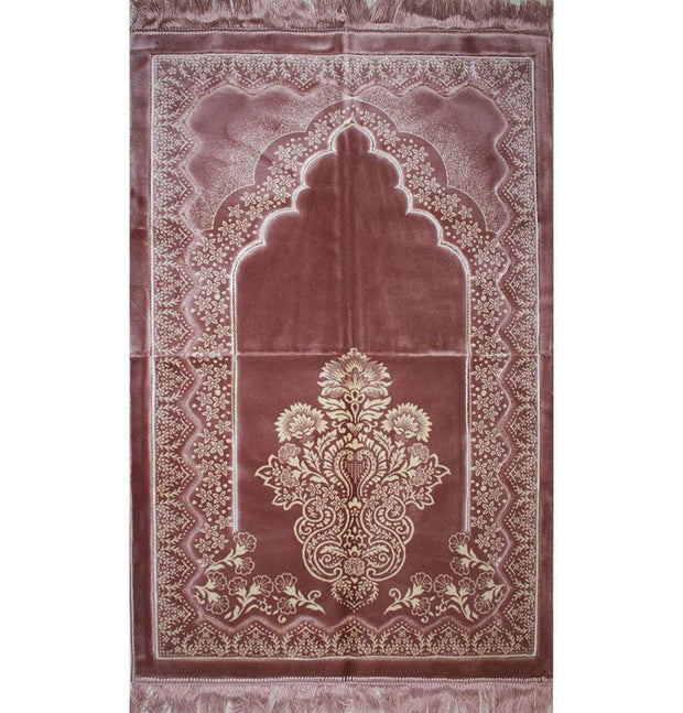 Aydin Prayer Rug Double Plush Wide Extra Large Prayer Rug - Pink - Modefa