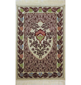 Aydin Prayer Rug Red Plush Velvet 'Simli' Prayer Rug Red Rose