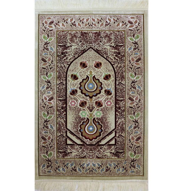 Aydin Prayer Rug Red Plush Velvet 'Simli' Prayer Rug Red Vine