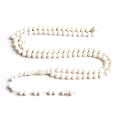 BasmalaBeads Engraved Camel Ivory 99 Count Prayer Beads