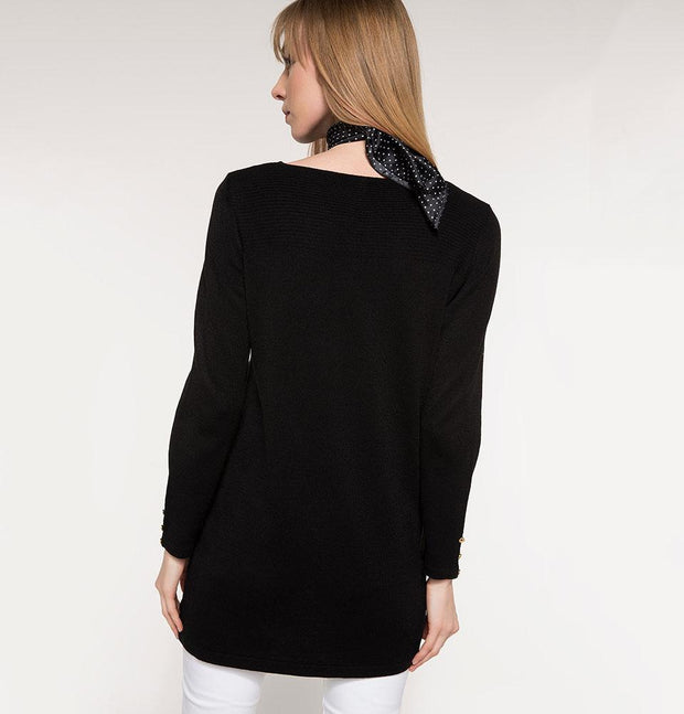 DeFacto Tunic DeFacto Modest Knit Tunic G5196AZ Black