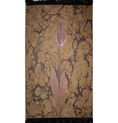 Ensar Prayer Rug Woven Chenille Turkish Ebru Tulip Prayer Mat 286 - Modefa