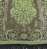 Ensar Prayer Rug Green / Black Taffeta Prayer Mat - Green